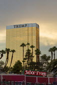 Las Vegas, Nevada, Trump International Hotel, behind Senor Frogs Mexican restaurant. - Jim West - 2010s,2016,AFFLUENCE,AFFLUENT,America,blocks,Bourgeoisie,building,buildings,catering,cities,City,consumerism,Diaspora,Donald Trump,EBF,Economic,Economy,elite,elitism,foreign,Frogs,gold,high,high incom