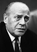 Oskar Schindler, a German industrialist, spy, and member of the Nazi Party who is credited with saving the lives of 1,200 Jews during the Holocaust by employing them in his enamelware and munitions fa... - Patrick Eagar - 1960s,1967,2nd,anti semitic,Anti Semitism,FACISM,FACIST,FACISTS,FAR RIGHT,FAR RIGHT,FASCIST,FASCISTS,German,germans,Holocaust,London,male,man,men,Nazi,Nazis,Oskar Schindler,Party,people,person,persons