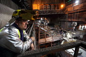 Steelworker, Tata Steel Port Talbot, South Wales - Jess Hurd - 2010s,2016,Basic Oxygen Steelmaking Converter,BOS,EBF,Economic,Economy,employee,employees,Employment,FACTORIES,factory,FOUNDRIES,FOUNDRY,furnace,FURNACES,hard hat,hard hats,hazard,hazardous,hazards,He