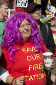 Save Our Fire Stations. Anti austerity Protest, Tories Out, Austerity has Failed, Victoria Square, Birmingham - John Harris - 02-10-2016