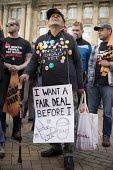 Anti austerity Protest, Tories Out, Austerity has Failed, Victoria Square, Birmingham. I want a Fair Deal Before I Kick the Bucket - John Harris - 02-10-2016