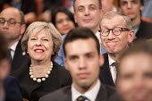 Theresa May and husband Philip John May, Conservative Party conference Birmingham. - Jess Hurd - 02-10-2016