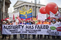 Anti austerity Protest, Tories Out, Austerity has Failed, Victoria Square, Birmingham - Jess Hurd - 02-10-2016