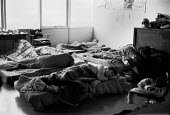 Occupation of L. Gardner and Sons Ltd engines factory, Eccles, Manchester 1980 against 590 compulsory redundancies Workers sleeping in the office early in the morninggital.co.uk - John Harris - 20-11-1980