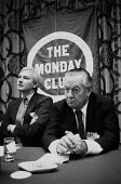 Harvey Proctor (L), Julian Amery MP, meeting of The Monday Club, Conservative Party Conference 1982 - John Harris - 07-10-1982