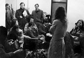 Temporary Tenants Association occupying Coventry Council Housing department in protest against the council policy of putting homeless tenants into short life housing in appalling conditions, 1980 - John Harris - 23-02-1980