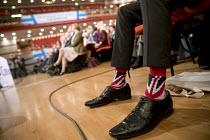Union Jack socks, Conservative Party conference Birmingham. - Jess Hurd - 04-10-2016