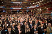 Applause for the new Workers Party. Conservative Party conference Birmingham. - Jess Hurd - 2010s,2016,applauding,applause,audience,AUDIENCES,Birmingham,conference,conferences,CONSERVATIVE,Conservative Party,Conservative Party conference,conservatives,delegate,delegates,male,man,men,MP,MPs,P