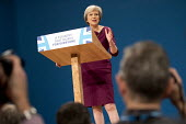 Theresa May speaking Conservative Party conference Birmingham. - Jess Hurd - 05-10-2016