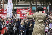 Frances O'Grady speaking 80th Anniversary of the Battle of Cable Street, Tower Hamlets, East London. - Jess Hurd - 09-10-2016