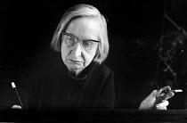Elisabeth Lutyens, English Classical musical composer, London 1971 - Gail Clarke Hall - 11-10-1971