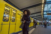 Berlin, Germany. Passenger on a Berlin subway - David Bacon - 02-10-2016