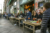 Berlin, Germany. Busy bohemian Berlin Cafe, Kreuzberg - David Bacon - 02-10-2016