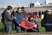 Anti racists oppose the racist White Lives Matter protest, Margate, Kent. - Jess Hurd - 22-10-2016
