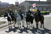 Mounted police, racist White Lives Matter protest, Margate, Kent. - Jess Hurd - 22-10-2016