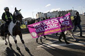 Mounted police, racist White Lives Matter protest, Margate, Kent. - Jess Hurd - 2010s,2016,activist,activists,adult,adults,against,animal,animals,anti,Anti Racism,anti racist,banner,banners,bigotry,CAMPAIGN,campaigner,campaigners,CAMPAIGNING,CAMPAIGNS,CLJ,DEMONSTRATING,Demonstrat