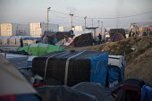 Refugees in the makeshift Jungle camp prior to a demolition planned by French authorities. Calais, France. - Jess Hurd - 25-10-2016
