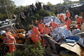 Demolition of the makeshift Jungle refugee camp by French authorities. Calais, France. - Jess Hurd - 25-10-2016