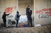 Refugees in the Jungle camp, eviction by French authorities, Calais, France - Jess Hurd - 27-10-2016
