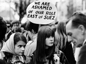 Young women protest against British involvement in the Vietnam war, Trafalgar Square, London 1967 - Patrick Eagar - 02-07-1967