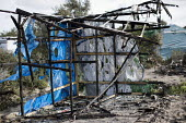 Burnt out remains after the eviction of refugees from the Jungle camp, Calais, France - Jess Hurd - 27-10-2016