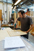 Carpenter at work in the Scenery and Props department at Covent Gardens Royal Opera House - Stefano Cagnoni - 23-06-2008