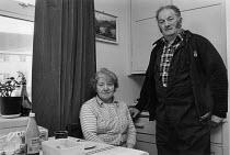 Forester Edwin and Doreen Stobbs at home, Stonehaugh, Kielder Forest, Northumberland 1985 - Denis Doran - 21-01-1985