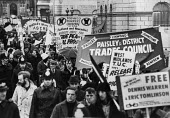 Protest by trades unions in support of the Shrewsbury Two, London 1975John Sturrock/Report Archive/reportdigital.co.uk - John Sturrock - 15-01-1975