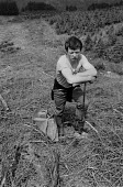 Forestry workers planting Sitka Sruce, Redesdale Forest, Kielder, Northumberland 1985 - Denis Doran - 20-06-1985
