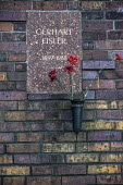 Berlin, Germany, Memorial to the Socialists, East Berlin. The grave of Gerhart Eisler a German Communist leader, called before the House of Un American Activities Committee after World War Two and dra... - David Bacon - 03-10-2016