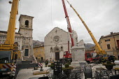 Firefighters rescue a renaissance painting from The church of St. Benedict, Norcia, hit by a huge earthquake, Umbria, Italy - Jess Hurd - 07-11-2016