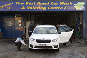 Hand car wash, Stratford upon Avon, Warwickshire - John Harris - 2010s,2016,AUTO,AUTOMOBILE,AUTOMOBILES,AUTOMOTIVE,by hand,car,Car wash,cars,cleaning,cleansing,customer,customers,EARNINGS,EBF,Economic,Economy,employee,employees,Employment,eu,european,europeans,fore