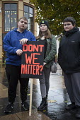 Youth protesting City Council closure of all 16 youth centres, Connecting Communities, Coventry Precinct. Don't We Matter? - John Harris - 12-11-2016