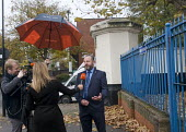Dave Todd POA NEC Member for London talking to the media. POA Prison Officers unofficial walkout, HMP Pentonville, London. Unable to legally strike, prison officers stage an unofficial 24 hour walkout... - Stefano Cagnoni - 2010s,2016,activist,activists,camera,cameraman,cameras,CAMPAIGN,campaigner,campaigners,CAMPAIGNING,CAMPAIGNS,communicating,communication,conversation,conversations,dangerous,Dave Todd,DEMONSTRATING,DE