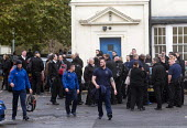 POA Prison Officers unofficial walkout, HMP Pentonville, London. Unable to legally strike, prison officers stage an unofficial 24 hour walkout in protest at the dangerous state of the Prison Service w... - Stefano Cagnoni - 15-11-2016