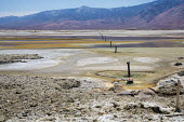 Keeler, California, Los Angeles Department of Water and Power returning some water to Owens Lake, 100 years after it began diverting water from the Owens Valley to the city via the 233-mile Los Angele... - Jim West - 25-06-2016