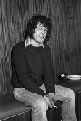 Alex Harvey of The Sensational Alex Harvey Band backstage 1976 at The Who concert, Charlton football ground, South East London - Martin Mayer