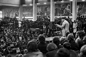 Muhammad Ali 1974 speaking pupils at Tulse Hill School, Brixton, London - Peter Arkell - 02-12-1974