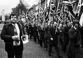 Martin Webster leading a National Front March, The Cenotaph Whitehall, London 1975 - John Sturrock - 09-11-1975