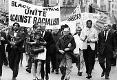 May Day demonstration marching through London 1968 Unite against Racism - Romano Cagnoni - 04-05-1968