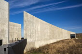 Shanksville, Pennsylvania: Visitor center complex, Flight 93 National Memorial. The memorial remembers those killed on United Airlines Flight 93 which crashed on September 11, 2001 after being taken o... - Jim West - 2010s,2016,9/11,9-11,ACE,aeroplane,aeroplanes,aircraft,airplane,airplanes,Al Qaeda,America,architecture,Arts,aviation,buildings,crash,crash site,crashed,Crescent of Embrace,Culture,death,deaths,died,f