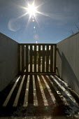 Shanksville, Pennsylvania Wooden ceremonial gate at the Flight 93 National Memorial. The memorial remembers those killed on United Airlines Flight 93 which crashed on September 11, 2001 after being ta... - Jim West - 23-11-2016