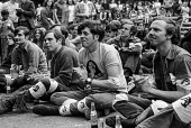 US servicemen at an anti Vietnam war rally, Victoria Park, London 1971 - NLA - 31-05-1971