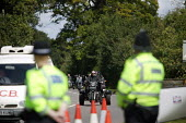 Large police presence outside the 22nd annual Bulldog Bash motorcycle gathering in Long Marston. One year after the murder of Gerry Tobin, who was shot dead riding home - Justin Tallis - 07-08-2008