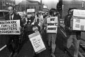 Southwark squatters march to the Town Hall to stop council evicting them, London 1970 - NLA - 09-10-1970