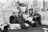 Punk squatters, Kings Cross, London 1979 - NLA - 1970s,1979,ACE,campaign,campaigning,CAMPAIGNS,cities,City,Culture,democracy,fashion,fashionable,fashions,FEMALE,Graffiti,home,homeless,homelessness,homes,Housing,London,London Squatters Union,meeting,