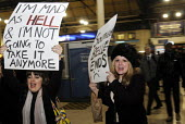 Rail passengers from the Association of British Commuters protest at Victoria Station against the crisis in transport provision at Southern Rail leading to terrible travelling conditions for customers... - Stefano Cagnoni - 15-12-2016