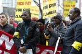 RMT cleaners protest outside GWR HQ, Swindon. They are on strike over serious bullying, claims of discrimination, poor working conditions and low pay on the Great Western Railway (GWR) train cleaning... - John Harris - 2010s,2016,activist,activists,anti social behavior,antisocial,antisocial behaviour,at,BAME,BAMEs,black,BME,bmes,bully,bullying,bullying at work,CAMPAIGNING,CAMPAIGNS,cleaner,cleaners,cleaning,cleansin