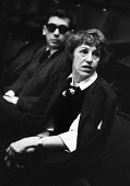 Lotte Lenya, singer and actor and wife of Brecht at the UK Premiere of The Rise And Fall of The City of Mahagonny by Bertolt Brecht Sadlers Wells Theatre London 1963 - Alex Low - 16-01-1963
