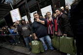 Harrods protest against the store taking workers tips, organised by UVW, Knightsbridge, London - Jess Hurd - 07-01-2017